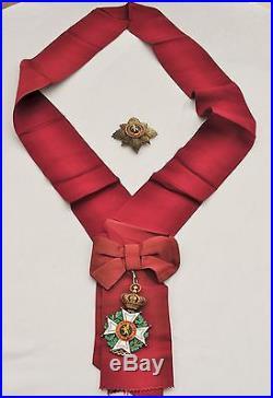 Belgique Ordre de Léopold, ensemble de grand croix