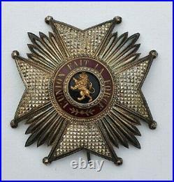 Belgique Ordre de Léopold, plaque de Grand Officier, en argent
