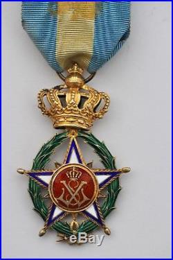 Belgique Ordre de l'Etoile d'Afrique, étoile d'officier en vermeil