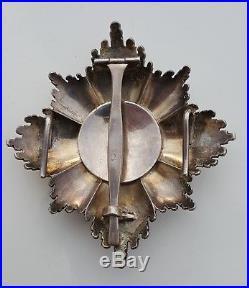Belgique plaque de Grand Croix de l'ordre de Léopold