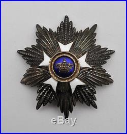 Belgique plaque de Grand Croix de l'ordre de la Couronne