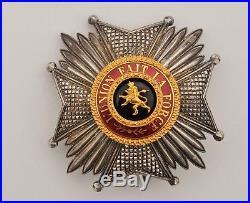 Belgique plaque de Grand Officier de l'ordre de Léopold