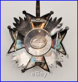 Belgique plaque de Grand Officier de l'ordre de Léopold, avec épées