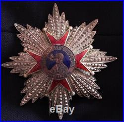 Belle et rare plaque de grand croix de l'ordre de Saint Grégoire le Grand