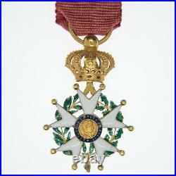 Belle médaille en or dofficier de lordre de la légion dhonneur dépoque secon