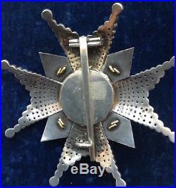 Belle plaque de Grand Croix de l'ordre de l'Epée de Suède
