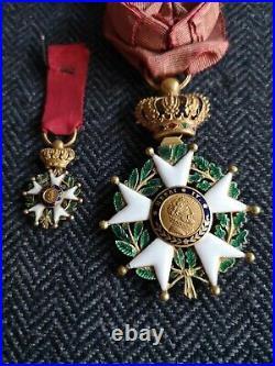 Bijou D'officier Ordre De La Légion D'honneur Monarchie De Juillet + Réduction