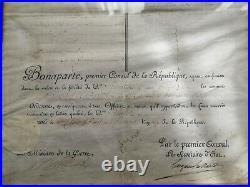 Brevet Militaire Officier Consulat 1803 Chef De Bataillon Signé Bonaparte Velin