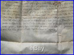 Brevet Ordre De Saint Louis 1714 Lieutenant Colonel Infanterie Louis XIV