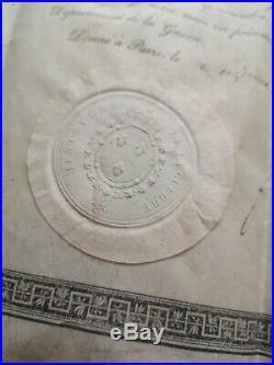 Brevet Ordre Militaire De Saint Louis 1820 Rang Chevalier Restauration