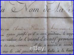 Brevet de Vétérance Cie CENT SUISSES Garde Royale Louis XVI 1792