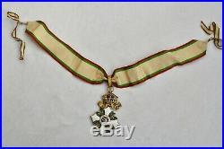 Bulgarie Ordre du Mérite Civil, ensemble de Grand Officier, dans son écrin