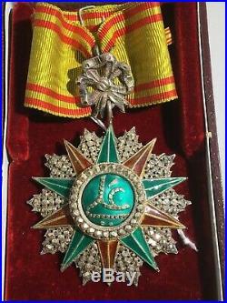C9C Bel ordre de commandeur du Nicham Iftikar en boite d'origine medal