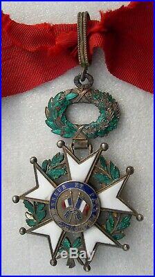 COMMANDEUR LEGION D'HONNEUR IIIe REPUBLIQUE medaille ordre en l'état à restaurer