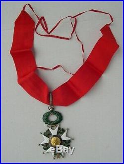 COMMANDEUR ORDRE LEGION D'HONNEUR IIIe REPUBLIQUE medaille