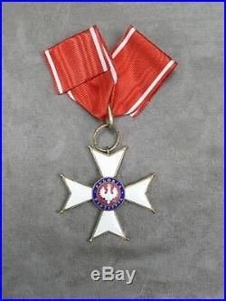 CROIX DE COMMANDEUR 3ème classe de l'ordre de POLONIA RESTITUA. 1918