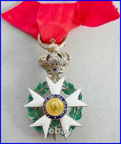 CROIX INSIGNE ORDRE LÉGION D'HONNEUR NAPOLÉON EMPIRE TYPE 1812 1815 ou 1851-52