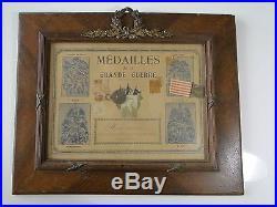 Cadre Medailles De La Grande Guerre 1914/1918 (b1013)