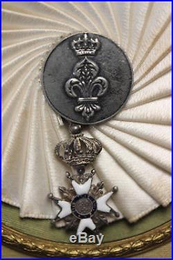 Cadre Premiere Restauration Legion D Honneur Et Coeur Vendeen 1814