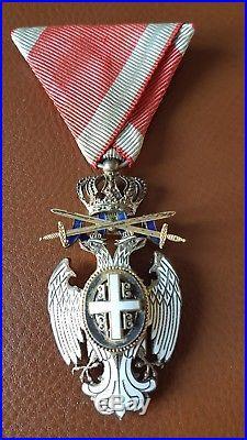 Chevalier Aigle Blanc de Serbie absolument superbe