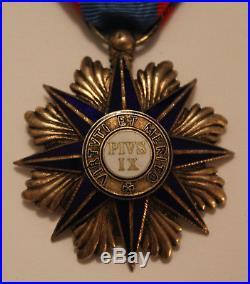 Chevalier ordre de Pie IX en vermeil
