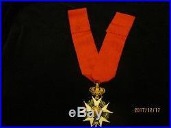 Commandeur Légion dHonneur 2nd Empire en or