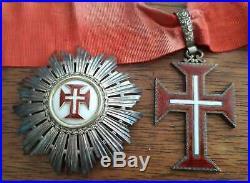 Commandeur Ordre Du Chist De Portugal Circa 1920 Plaque + Croix