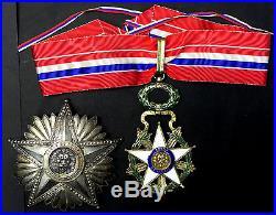 Commandeur Ordre National Du Merite Paraguay + Plaque + Boite D'origine