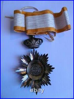 Commandeur Ordre Royal du Cambodge Kretly Vermeil & or Indochine french medal