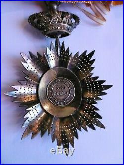 Commandeur Ordre Royal du Cambodge Kretly Vermeil repercé Indochine & son écrin