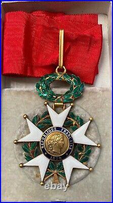 Commandeur de la légion d'honneur IIIe Republique. En or. Avec écrin