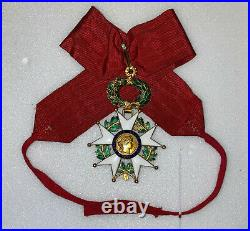 Commandeur de la légion d'honneur en or 18 carats avec ecrin
