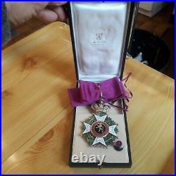 Commandeur ordre de Leopold legion d'honneur de la Belgique belgian medal