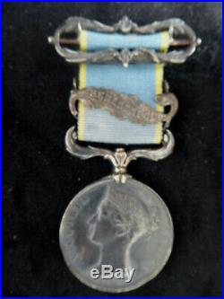 Crimée Victoria 1854 Sebastopol barrette argent