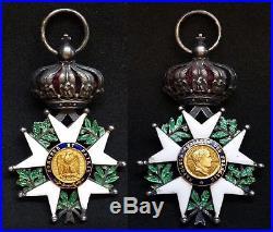 Croix Chevalier Légion d'Honneur Napoléon Empereur des Français Argent et Or