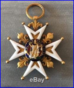 Croix De Chevalier De L'ordre De Saint -Louis En Or Grand Modèle. 1774-1792