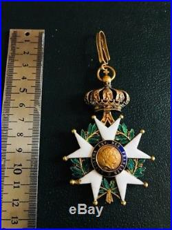 Croix De Commandeur De La Légion D'honneur En Or Époque Second Empire 1852-1870