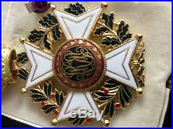 Croix De Commandeur Ordre De Leopold II Avec Sa Cravate D'origine