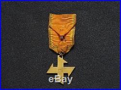 Croix De Deuxième Classe De La Reine Marie Bronze Dore Roumanie
