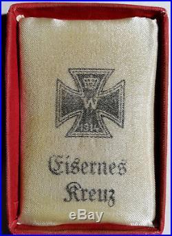 Croix De Fer Allemande Avec Boite 1914 German Iron Cross Ww1 With Box