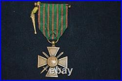 Croix De Guerre 1914/1916-fourragere & 4 Citations-tirailleur-spahi-zouave-14/18