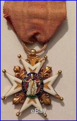 Croix De Saint-louis En Or Massif