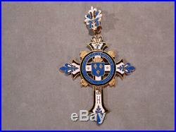 Croix Emaillee Henri Cinq Comte De Chambord Fleurs De Lys Royautee