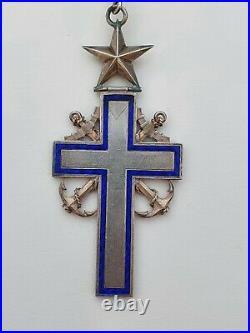 Croix d'aumonier de la marine, argent, III° république