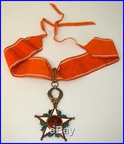 Croix de Commandeur de l'Ordre du Ouissam Alaouite en vermeil