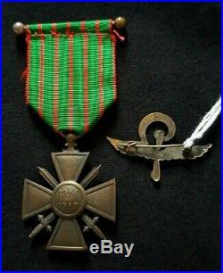 Croix de Guerre 1914 1917 citations palmes escadrille SAL 16 WW1 French squadron