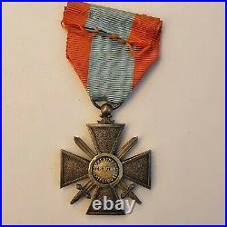 Croix de Guerre Théâtres d'Opération Extérieurs, en vermeil, poinçon au sanglier