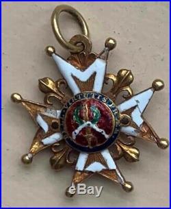 Croix de Saint Louis en or modele de la création Louis XIV