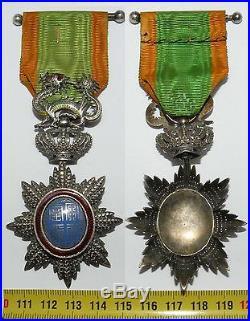 Croix de chevalier du Dragon d'Annam en argent Repercée 1886 1950