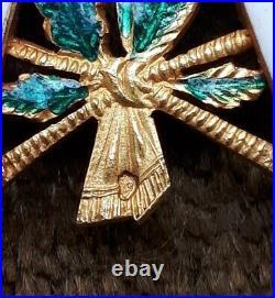 Croix de commandeur de la Légion d'Honneur 2nd Empire en or-poinçon tête d'aigle